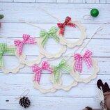 Новорічні прикраси ручної роботи, новогодние игрушки, hand made