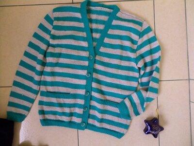 теплий вязаний светр кардиган L-XL