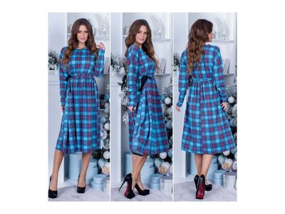 Жіноча сукня в клітку 42-46р Арт. 5078
