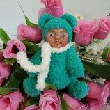 Пупс - кукла, мишка Ручная работа