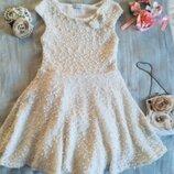 RIVER ISLAND. Брендовое. Нарядное платье. Расшито серебряным люрексом и белоснежным жемчугом. Низ по