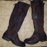 41р-27 см кожа сапоги Air step в отличном состоянии высокие сапоги