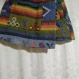 Шерстяная юбка в этническом стиле. Ручная работа.