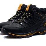 Мужские зимние кожаные ботинки Columbia Black реплика
