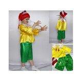 Новогодний костюм Буратино, 2 размера на 3-7 лет.