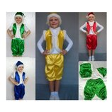 Новогодний костюм Гном Гномик Эльф 4 цвета 2 размера на 3-7 лет.