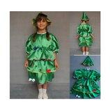 Новогодний костюм Елка Елочка 2 размера на 3-7 лет.