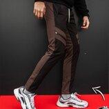 Зимние мужские штаны Soft Shell San Andreas черно-коричневые