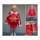 Новогодний костюм Король Царь, 2 размера на 3-7 лет.