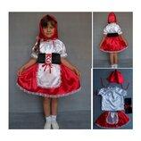 Новогодний костюм Красная шапочка 2 размера на 3-7 лет.