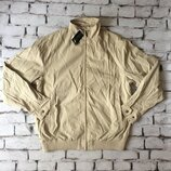 Бомбер мужской демисезонная куртка бежевый цвет