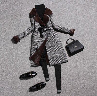 Модное винтажное шерстяное пальто в клетку. под заказ