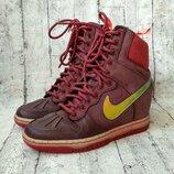 Шикарные кожаные сникерсы/кроссовки от nike 36 р.