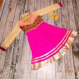 Новое новогоднее платье восточной принцессы для девочки 7-8 лет. 122-128 см