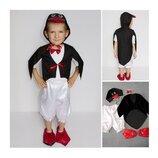 Новогодний костюм Пингвин 2 размера на 3-7 лет.
