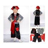 Новогодний костюм Пират 2 размера на 3-7 лет.