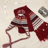 Набор шапочка и шарф .на 5-7 год