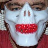 Фирменная стильная маска карнавальная маскарадная Челюсть скелета .Marvel Марвел