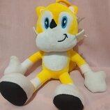 Мягкая игрушка лисенок Тейлз, Соник 25 см