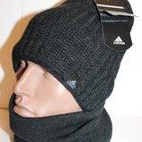 Комплект теплый на флисе шапка и баф 54-60р