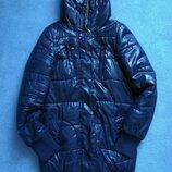 Зимова тепла синя куртка зимняя тёплая синяя курточка