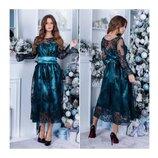 Коктейльное платье Миди 48-58 Арт.05088