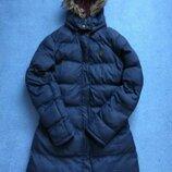 Зимовий пуховик зимова стильна тепла синя куртка зимняя стильная синяя курточка brave soul