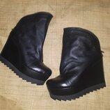 39р-25 см кожа новые ботинки Metamorfoza