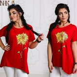 футболка батальная Цена-195 Р-50-52 1 ,54-56 2 , Ткань- турецкая вискоза
