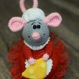 Мыша, мышка, вязанная крючком, игрушка, игольница, символ 2020 года, мышь, крыса