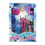 Кукла Ася с аксессуарами 35076 чемодан Ася Путешествие Блондинка с аксессуарами 28 см