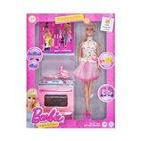 Кукла с кухонным набором Beauty Kitchen плита звук, свет X221J2 барби плита