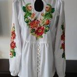 Вышитая рубашка женская Шиповник