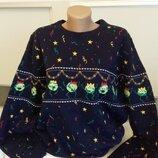 Новогодний зимний свитер XL