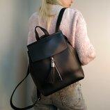 Черная сумка-рюкзак Украина экокожа