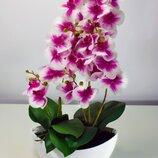 Искуственное растение, орхидея, бело-фиолетовая