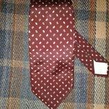 Шелковый галстук Nina Ricci, 100% шелк, Франция