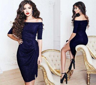 Вечернее платье с разрезом 42 44 46 48 размеры. Есть цвета.