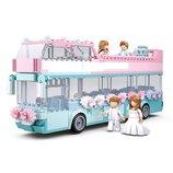 Конструктор SLUBAN M38-B0769 Свадебный автобус, 379 детали