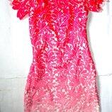 Шикарное летнее платье р.10 ог86-98, дл.82