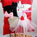 Декоративная подушка влюбленные мышки
