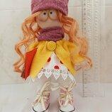 Интерьерная куколка с книжкой