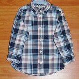 Стильная рубашка в клетку,клеточку,1,5-2 года,92,18-24 мес. Состояние новой