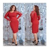 Сукня червона 48-54 арт. 0152