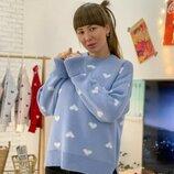 Очаровательный свитер с сердечками шесть расцветок