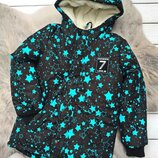 р.116-134 Зимняя удлиненная куртка, синтепон 300, махра, до -25