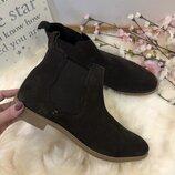 Стильные замшевые ботинки, ботинки осень весна, натуральная замша