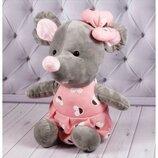 Мышка поздравительная 1/4 розовая