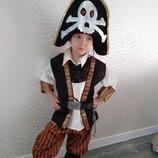 прокат карнавальный костюм новогодний костюм пирата или пиратки новогодние,на утренник Киев