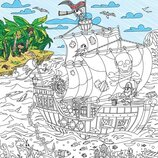Плакат-Раскраска Пираты на краю света XL тубус
